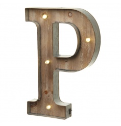 Fabulous rustic LED letter creating an industrial vibe in the home and at events.