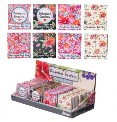 Bold and beautiful botanic gardens nail files in a matchbook size.