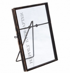 Standing metal picture frame with Happily Ever After text