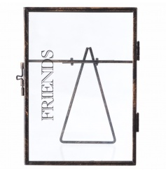 Standing metal picture frame with Friends text