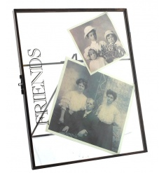 Standing metal Friends picture frame