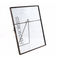 Chic standing memories picture frame with Memories text