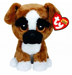 An adorable official TY Boxer dog with adorable eyes and a soft coat for little ones to hug and enjoy.