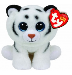 Official TY white tiger soft toy with adorable sparkly eyes.