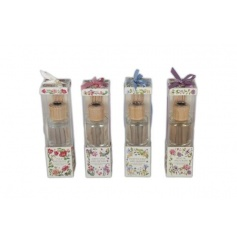 An assortment of four scented diffusers with pretty floral pattern
