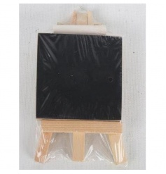 Practical mini chalkboard on a wooden easel