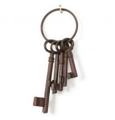 Decorative iron keys for ornamental use