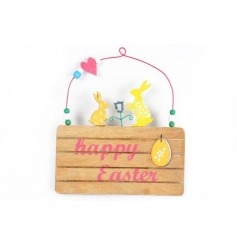Cute and colourful Happy Easter sign