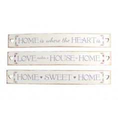 Wooden home slogan plaques in an assortment of three