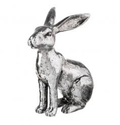 An ornamental silver rabbit decoration
