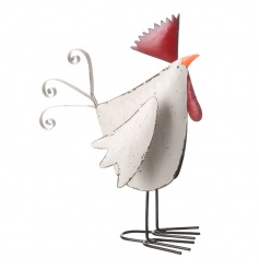 Small standing cockerel decoration with a quirky style