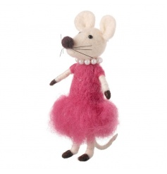 Adorable woollen mouse decoration from the new wool Heaven Sends range