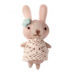 Cute little gift bunny in a pretty lace dress