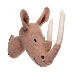 A high quality wool and felt Rhino head decoration