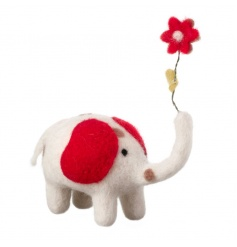 From a new range of gorgeous woollen items, a cute spotty elephant
