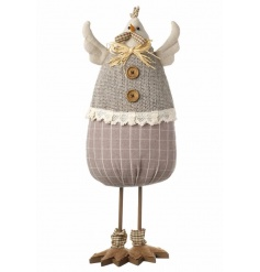 Fabric standing chicken decoration for the home