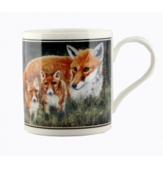 China mug with Cachet fox and cub image