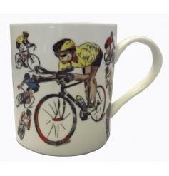 Cycling design china mug with a matching gift box