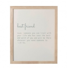 Lovely best friend sign with sweet quote