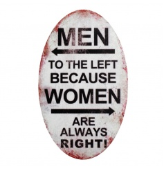 Humorous fridge magnet with Men and Women quote