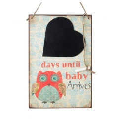Pretty chalkboard countdown plaque with owl design