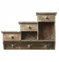A rustic style storage unit for the home