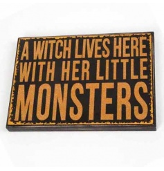 Wooden halloween sign by Heaven Sends