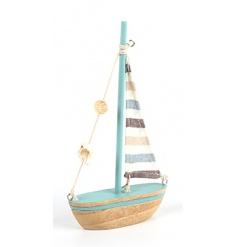 Wooden Sailboat, 20cm