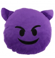 Soft grimace cushion from the new Emoji range