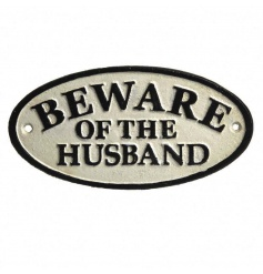 Humorous ceramic plaque by Heaven Sends