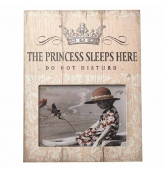 A shabby and chic picture frame with popular Princess text