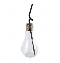 Glass drinking jar in a quirky bulb design