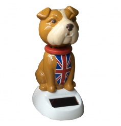 novelty nodding solar powered dog