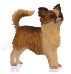 A fine quality Chihuahua dog ornament with gift box.