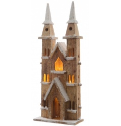 LED Wooden Cathedral 55cm