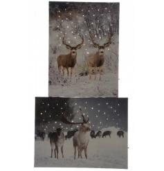 LED Reindeer Wall Art 40cm
