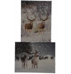 XL LED Reindeer Wall Art 60cm