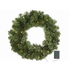 Imperial Light Up Wreath 50cm