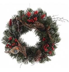 Berry Robin Wreath