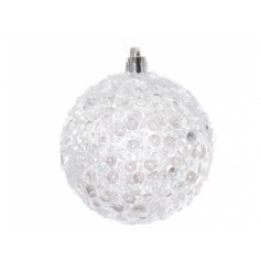 White Sequin Bauble