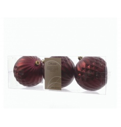 A pack of 3 chic geometric baubles, perfect to compliment many festive themes.