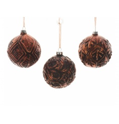 On trend and unique antique style baubles made from glass.
