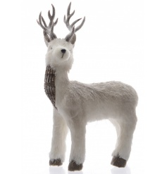 Large Glitter Standing Reindeer 24cm