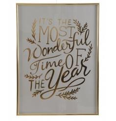 Beautiful festive gold frame