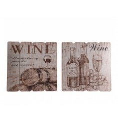 Add some rural french charm to the home with these rustic wine signs on wooden slats.