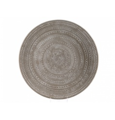 A chic decorative plate, perfect for table settings and for showcasing ornaments, baubles and candles.