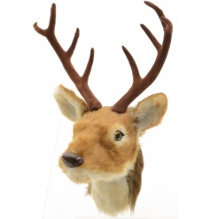 Life like reindeer head bust easily fixable onto any wall for a festive woodland feel