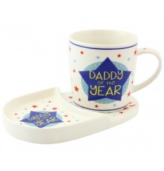 Daddy of the year mug and snack set by Leonardo