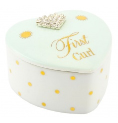 First curl trinket box in a baby blue colour