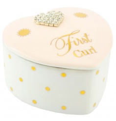 First curl trinket box in a pretty pink colour